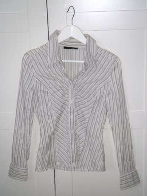 langärmlige Bluse, gestreift, Streifen, Langarmbluse, beige, Gr. S, Vero Moda