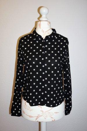 langärmlige Bluse, Hemd mit Sternen von Mango