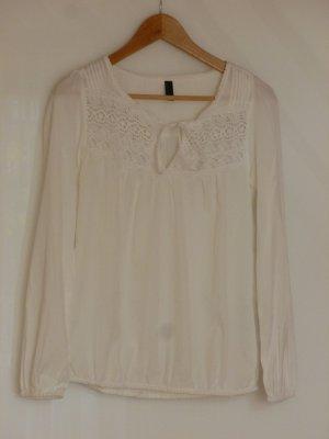Langärmlige Bluse mit Häkeleinsatz von Vero Moda (Größe S/36)