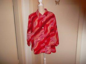 Blouse met lange mouwen veelkleurig Polyester