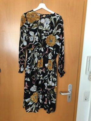 Langärmliges Chiffon-Kleid 42-44