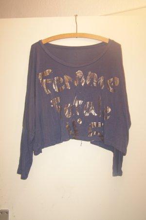 langärmliges Cropped Shirt FEMME FATALE