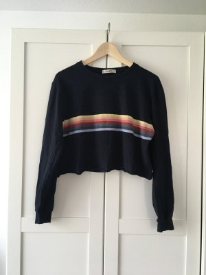 Pull & Bear Cropped Shirt multicolored