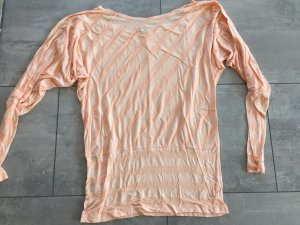Langärmliges Fledermausshirt in pastel orange