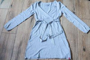 Langärmliges, graues Baumwollkleid von edc in Größe M