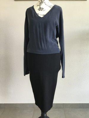Dante 6 Midi-jurk zwart-leigrijs Zijde