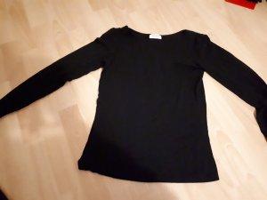 Langärmliges schwarzes T Shirt