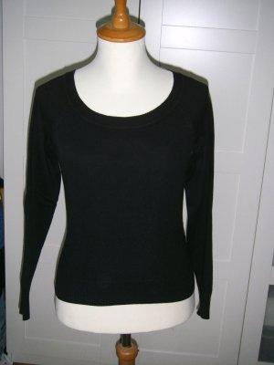 langärmliges Shirt, leichter Pullover, Basic, schwarz, Gr. S, Only