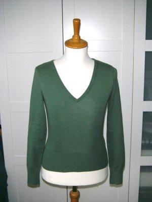 langärmliges Shirt, leichter Pullover, Pulli, grün, Gr. 34, H&M