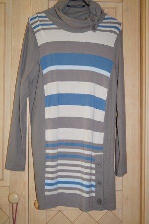 langärmliges Shirtkleid mit bunten Streifen
