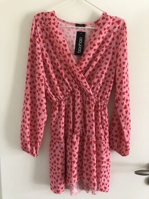 Boohoo Vestido playero rosa-rojo frambuesa