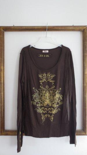 Langärmliges Sweatshirt mit gold Aufdruck von Only, Gr. 40