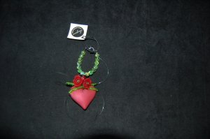 Pendant red synthetic material