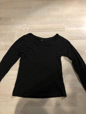 24Colours Kraagloze sweater zwart