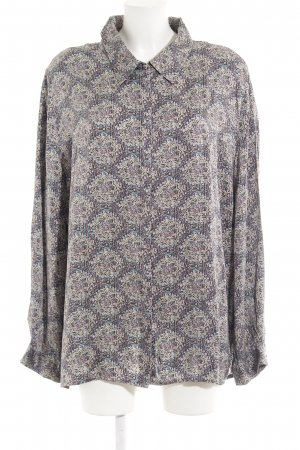 Langarm-Bluse abstraktes Muster Casual-Look