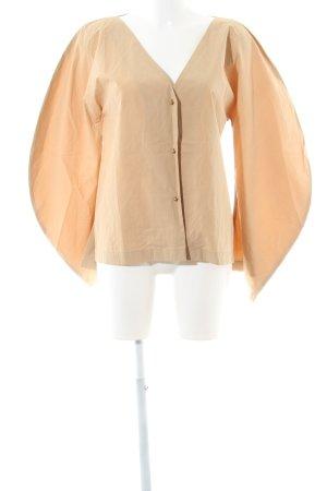 Langarm-Bluse beige Paris-Look