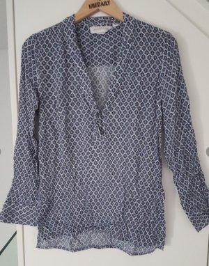 Langarm-Bluse blau H&M