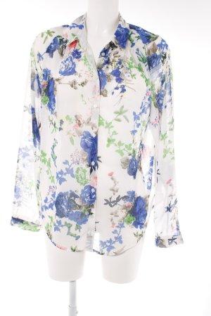 Langarm-Bluse Blumenmuster Romantik-Look