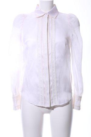 Langarm-Bluse creme Elegant