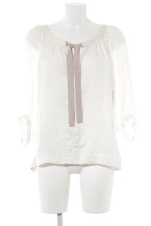 Langarm-Bluse creme-hellrosa Romantik-Look