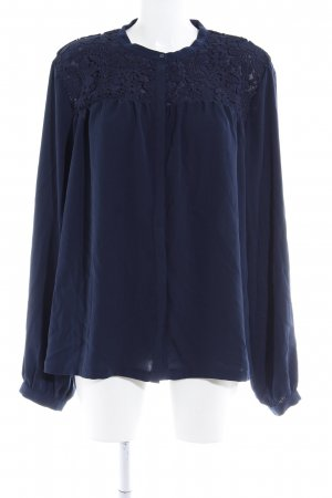 Langarm-Bluse dunkelblau Casual-Look