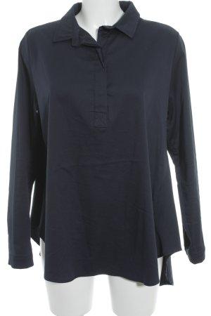 Langarm-Bluse dunkelblau Elegant