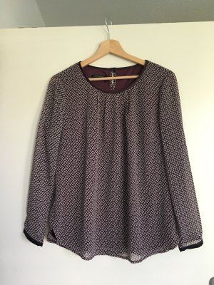 Apanage Long Sleeve Blouse brown violet-grey lilac