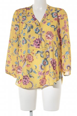 Langarm-Bluse florales Muster Casual-Look