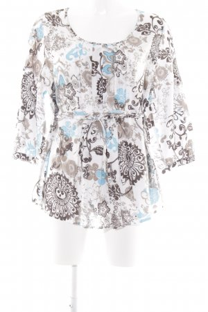 Langarm-Bluse florales Muster Casual-Look