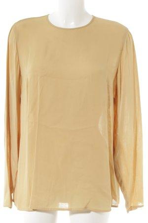 Langarm-Bluse goldorange Elegant