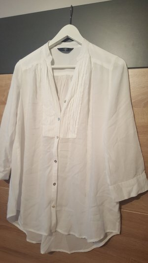 Langarm-Bluse Gr. 40 Weiß