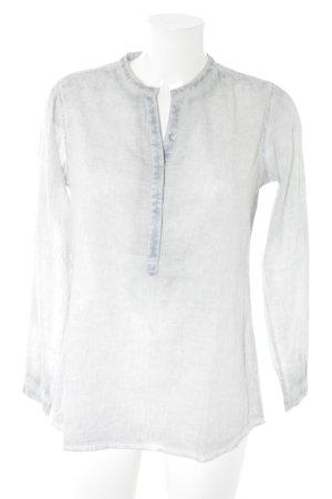 Langarm-Bluse graublau-weiß Casual-Look