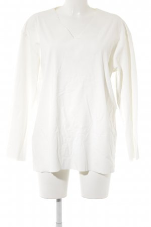 Langarm-Bluse hellbeige schlichter Stil
