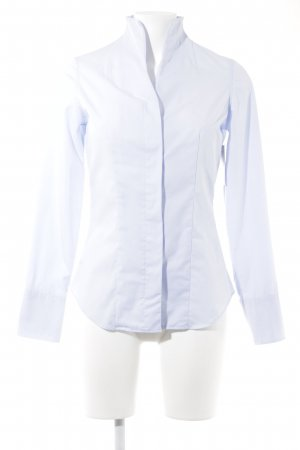 Langarm-Bluse himmelblau Business-Look