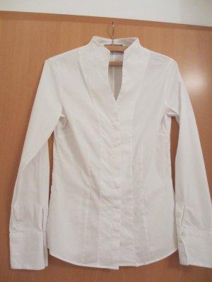 Langarm Bluse mit Kelchkragen von Jacques Britt - weiß klassich