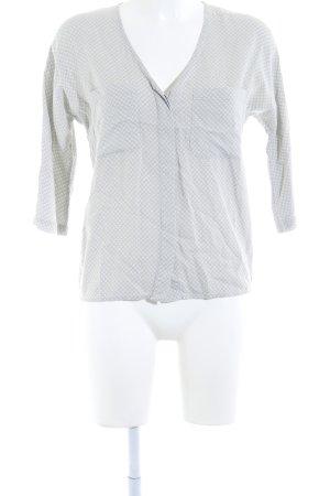 Langarm-Bluse Punktemuster Casual-Look