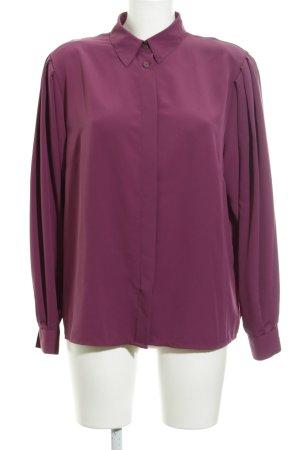 Langarm-Bluse purpur Casual-Look