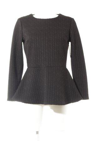 Langarm-Bluse schwarz klassischer Stil
