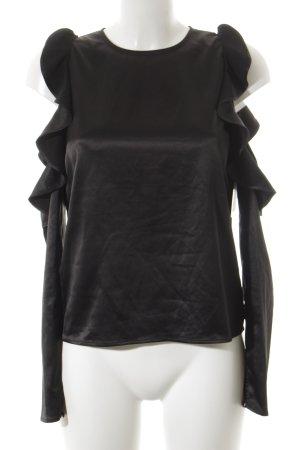 Langarm-Bluse schwarz minimalistischer Stil