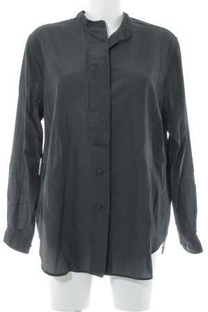 Langarm-Bluse schwarz Punktemuster Casual-Look