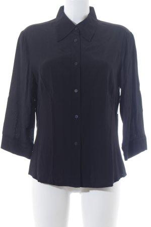 Langarm-Bluse schwarz schlichter Stil