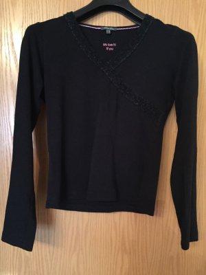 Langarm-Bluse schwarz Sport -look, Große 36 von Street One