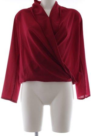 Langarm-Bluse violett Elegant