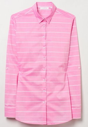 Langarm-Bluse von ETERNA in pink/weiß *NEU*