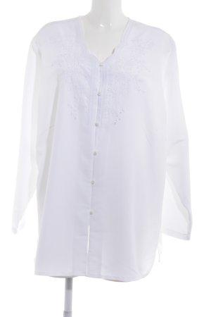 Langarm-Bluse weiß klassischer Stil