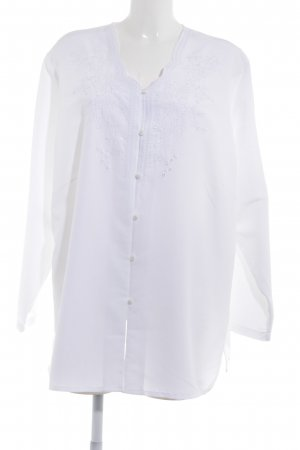 Long Sleeve Blouse white classic style