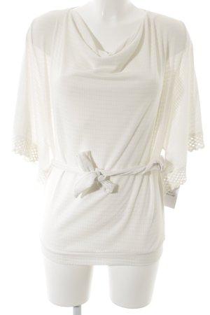 Blusa de manga larga blanco puro look casual