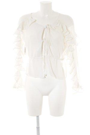 Langarm-Bluse wollweiß Elegant