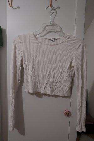 Langarm Crop Shirt