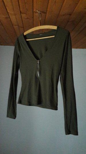 Langarm Cropshirt